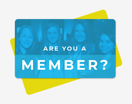Designed logo card highlighting the Are You A Member? tool