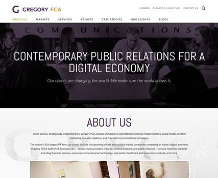 View the Gregory FCA project