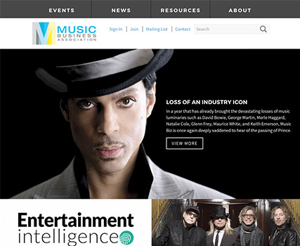 View the Music Business Association project