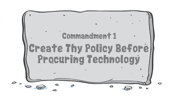 Commandment tablet