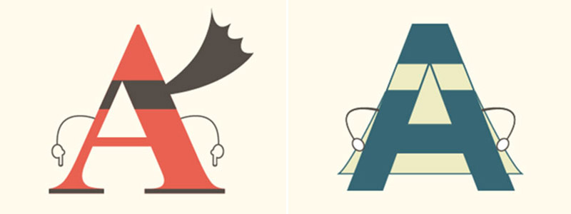 "Serif vs. Sans Serif letter ""A"""