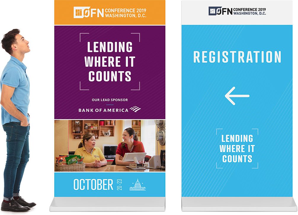 Banner Stand - Lending Where It Counts Conference