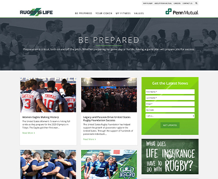 """View the """"Rugby is Life"""" Blog Redesign project"""